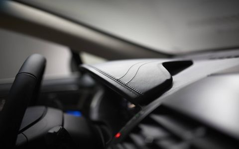 A leather wrapped and stitched dash is one of the many Black Label benefits to the interior.