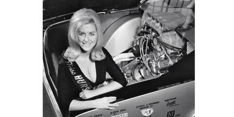 """Linda Vaughn, known as the """"First Lady of Racing,"""" was a fixture at the Indianapolis 500."""