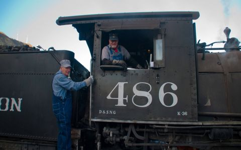 The engineer and fireman on old 486, a K36 model.