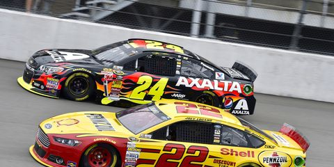 Hendrick Motorsports driver Jeff Gordon (24) and Team Penske's Joey Logano could be battling it out for a NASCAR Sprint Cup championship at Homestead.