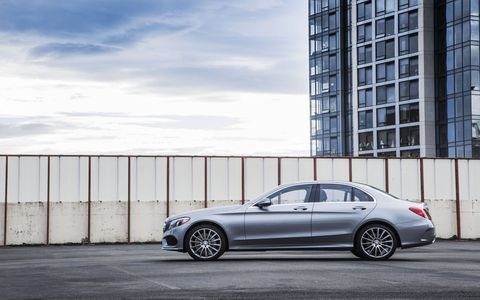The 2015 Mercedes-Benz C300 4Matic Sedan comes in at a base price of $41,325 with our tester topping off at $56,820.