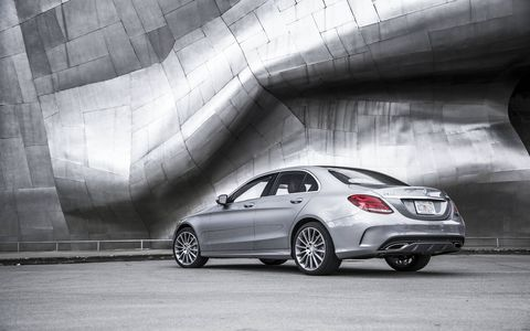 The 2015 Mercedes-Benz C300 4Matic Sedan with the 2.0-liter turbo delivers plenty of power and the seven-speed gearbox is lightning fast.