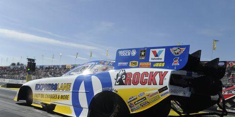 Matt Hagan denied John Force his 17th NHRA Funny Car championship with a win on Sunday at Pomona.
