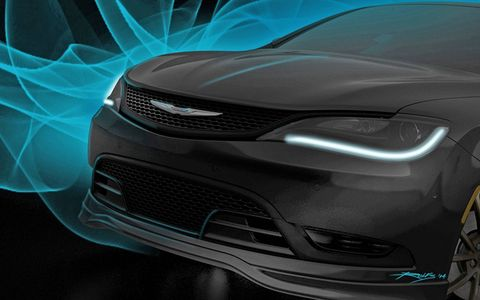 A tuned version of the Chrysler 200S will also be on display.