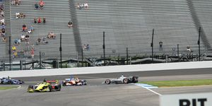 Josef Newgarden may have cost himself a podium with a spin in Turn 12 on Saturday at the Indianapolis Road Course.