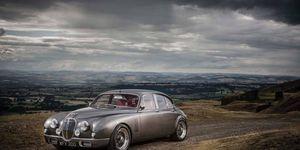A unique, Ian Callum-designed Jaguar Mark 2 was unveiled at Classic Motor Cars Ltd. in Bridgnorth, Shropshire, U.K.