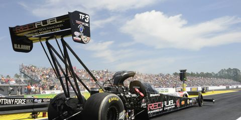 Spencer Massey won last year's Top Fuel event in Kansas.