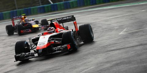 Alexander Rossi will have to wait a little longer to make his Formula One racing debut.