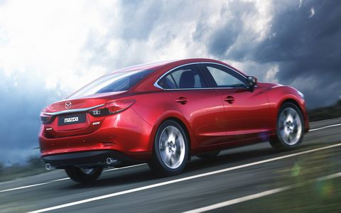 In California, Mark Vaughn and Blake Z. Rong drove a Mazda 6 with a 6-speed manual.