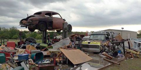 """The first guy who makes a """"that'll buff right out"""" joke has to rebuild Josh's garage."""