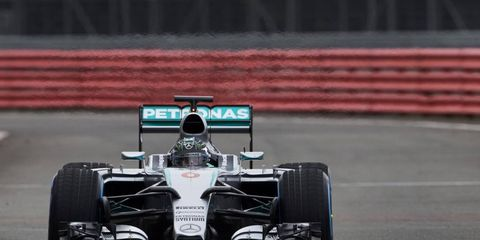 Lewis Hamilton and Nico Rosberg took turns with the new W06 on Thursday at Silverstone.
