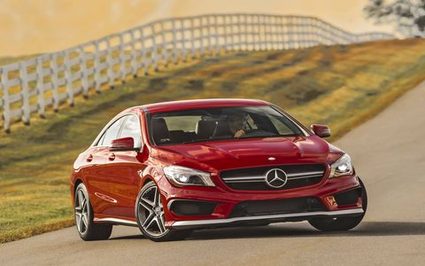 The CLA45 pushes 26.1 pounds of boost through its 2.0-liter four-cylinder engine.