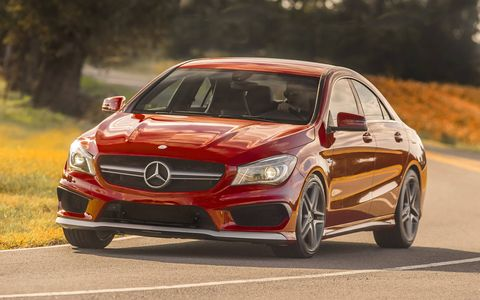 The CLA45 AMG makes 355 hp and 325 lb-ft of torque.