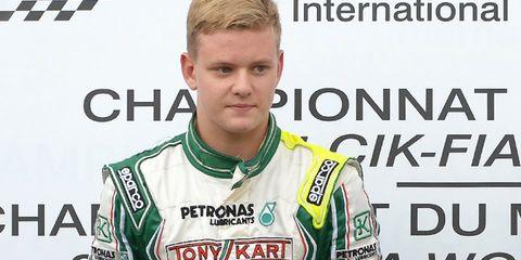 Mick Schumacher, son of F1 legend Michael, wrecked during a preseason F4 test. The driver was unhurt.