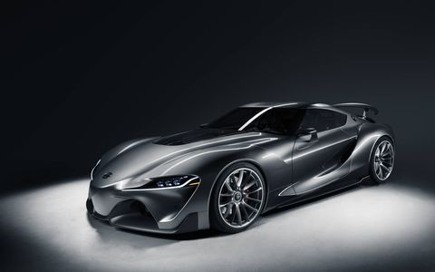 The second Toyota FT-1 concept is in a color called Graphite.