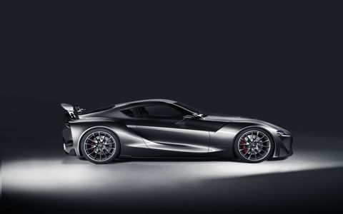 From the side the Toyota FT-1 looks like an ideal next-generation Supra.