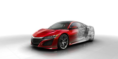At the core of it all is Acura's aluminum-intensive space frame, which the company says is the stiffest in its competitive set.