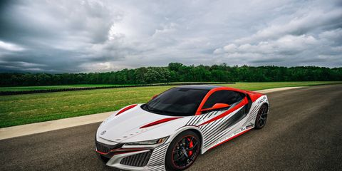The Acura NSX is taking on the 14,110-foot Colorado mountain on Sunday.