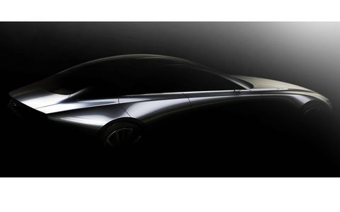 Mazda calls this the 'design vision.' We're going to call it the Mazda 8.