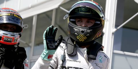 Nico Rosberg will start Sunday's Formula One German Grand Prix on the pole.