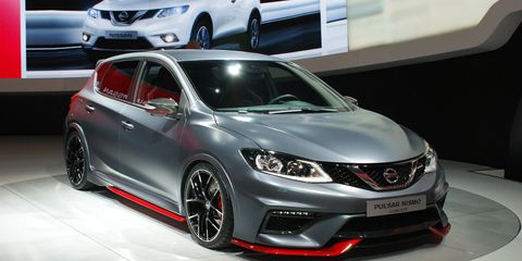 Nissan says this is just a concept for now, but it already admitted to plans for expanding the Nismo range, and the Pulsar would be a perfect candidate.