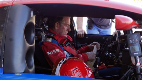 Millen prepares to go on track at his first outing at the Monterey Historics.