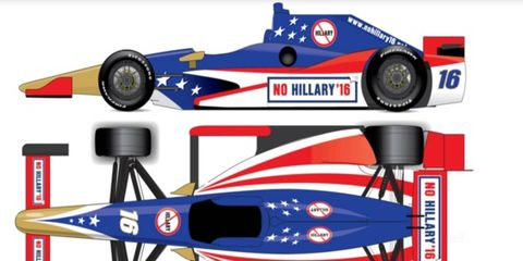 """This is a rendering of what a """"No Hillary in 2016"""" car could look like."""