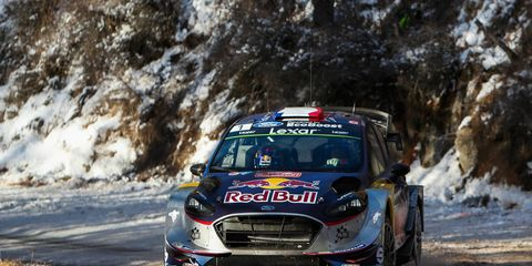 Sebastien Ogier battled the elements on his way to the WRC win in Monte Carlo.