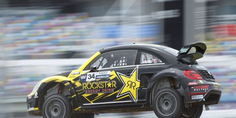 Tanner Foust led a 1-2 finish for Volkswagen and Andretti Autosport at Daytona International Speedway on Sunday.