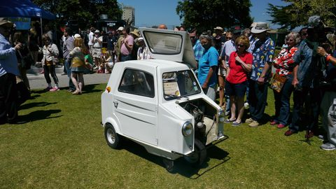 Worst in Show was this French-made Acoma Mini Comtesse with a 47cc two-stroke and five wheels. There was a pedal, not a gas pedal or anything but a bicycle-type pedal to help the car go forward. An excellent choice for this honor.