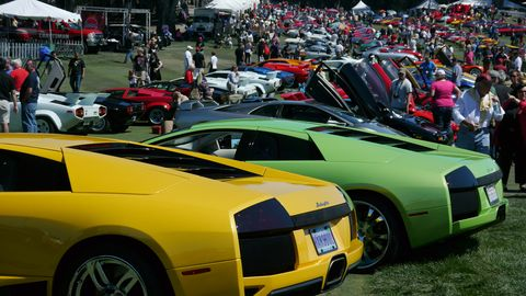 Lambos, Lambos everywhere, yet not a drone to drive.