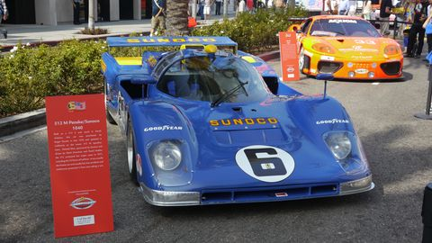This 512 M was purchased by Roger Penske and raced at Le Mans.