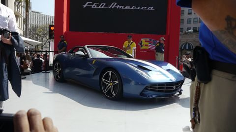 Ferrari F60 America celebrates 60 years of Ferrari in the United States.
