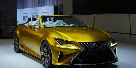 Lexus LF-C2 concept hints at an RC convertible