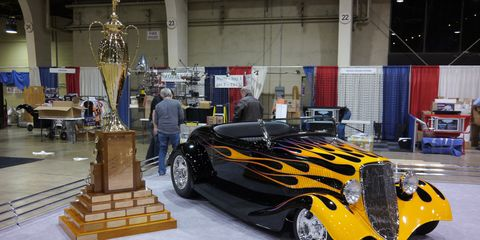 The flames have it: Larry Olson's '33 Ford Roadster wins AMBR