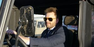 Comedian Joel McHale at the wheel of an ICON FJ, his second-favorite car.