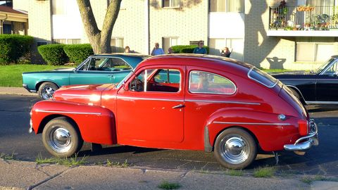 It's not all American cars on Woodward -- Sweden was represented by this Volvo PV544.