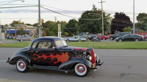 Technically a one-day event, the 2014 Woodward Dream Cruise was in full swing by Wednesday night.