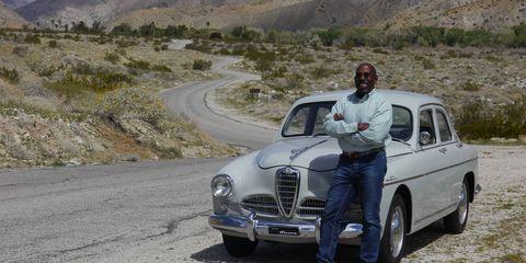 "Donald Osborne says, ""Buy what you love."" He bought this splendid Alfa 1900 Super."