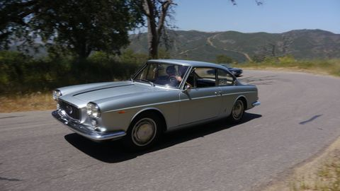 After lunch, everyone went driving on great roads. Everything's either a Flaminia, a Fulvia or a B20. Unless it's an Appia. This one's a Flaminia. I think.