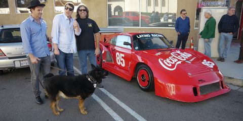 John Paul Jr. at his book signing outside Autobooks Aerobooks in Burbank. That's a 935 next to him.