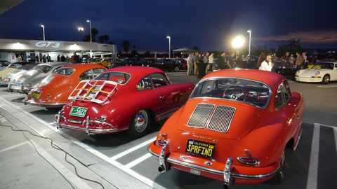 Every year for the past few years the Petersen Automotive Museum in Los Angeles has hosted a party on the night before Luftgekuhlt called Air Meets Water. While Luftgekuhlt, Patrick Long's big bash for air-cooled Porsches, only allows - duh - air-cooled Porsches, the Petersen is far more ecumenical, welcoming all Porsches, as long as they're 911s and 356s, anyway.