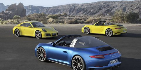The wider, and better accelerating, 2017 Porsche Carrera 4, Targa 4, and Carrera 4 Cabriolet