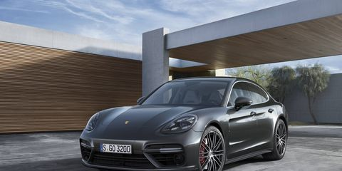 A 2.9-liter V6 gasoline engine with 440 hp drives all four wheels of the 2017 Porsche Panamera 4S.