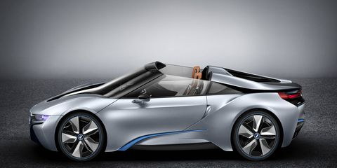 The i8 was first previewed in Spyder form in 2012.