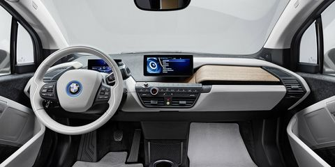 The interior of the 2014 BMW i3 is comprised of some rather interesting materials.