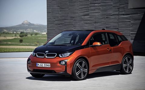 The ride in the 2014 BMW i3 is stiff even on our broken roads.