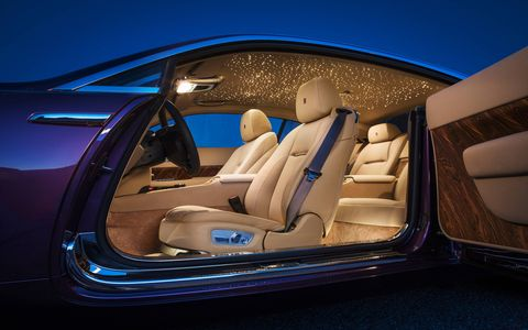 The 2014 Rolls-Royce Wraith comes in at a base price of $288,600.