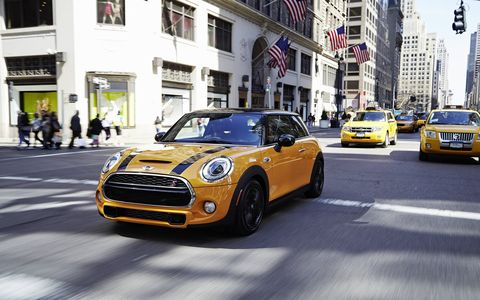 The 2014 Mini Cooper S Hardtop pushes out 189 hp with 207 lb-ft of torque.