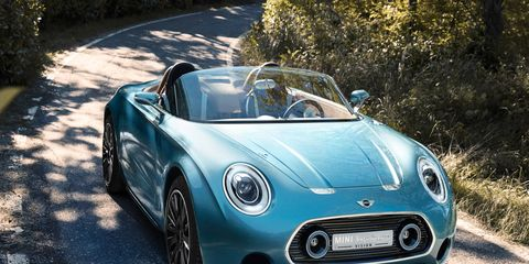 Racing toward production? The Mini Superleggera convertible could go on sale in 2018 -- driver not included, apparently.
